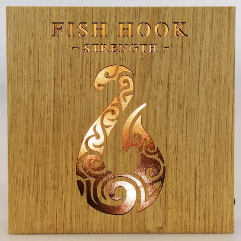 LED Kiwiana Block - 'Fish Hook'