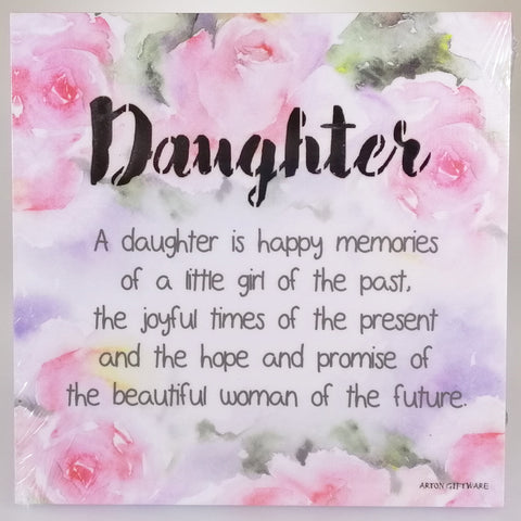 LED Sentimental Plaque - 'Daughter'