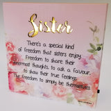 LED Sentimental Plaque - 'Sister'