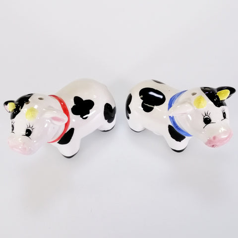 'Moo Cow' Collectible Ceramic Salt & Pepper Set