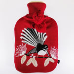 """Flirting Fantails"" Hot Water Bottle"