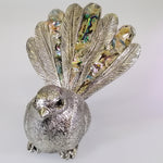 Silver-look Resin Fantail with Paua Highlights
