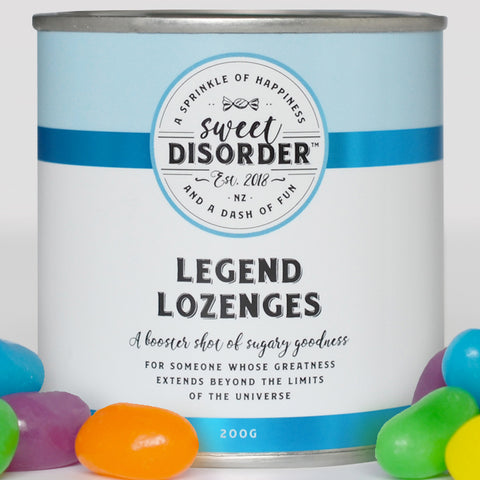 """Legend Lozenges"" Giant Jellybeans Candy - 200g"