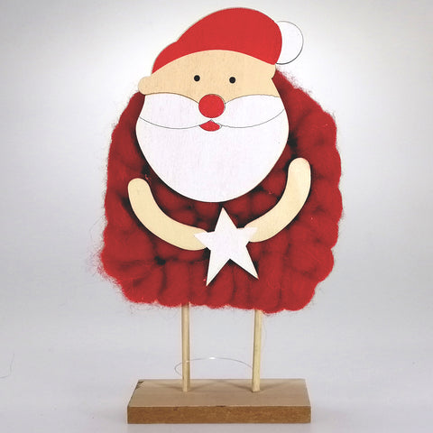 Wooly Santa Ornament - With Star