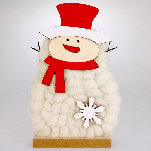 Wooly Snowman Ornament