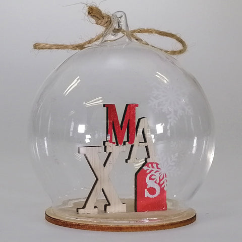 Hanging Glass Ornament - XMAS Globe