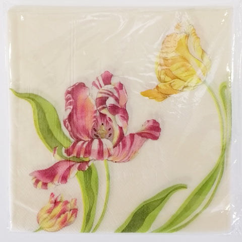 """Pink Orchid"" Paper Napkins - 20"