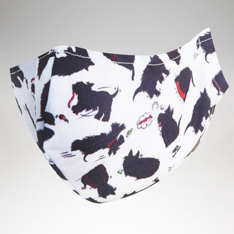 Eco Chic - Face Cover Mask - Scotty Dog - Adult Size