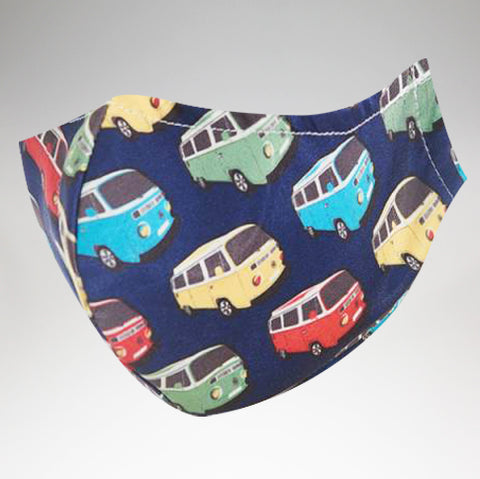 Eco Chic - Face Cover Mask - Navy Kombi - Adult Size