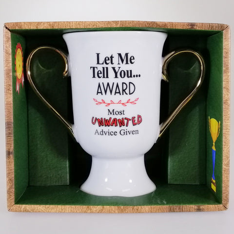 'Let Me Tell You... Award' - Double-handled Trophy Mug