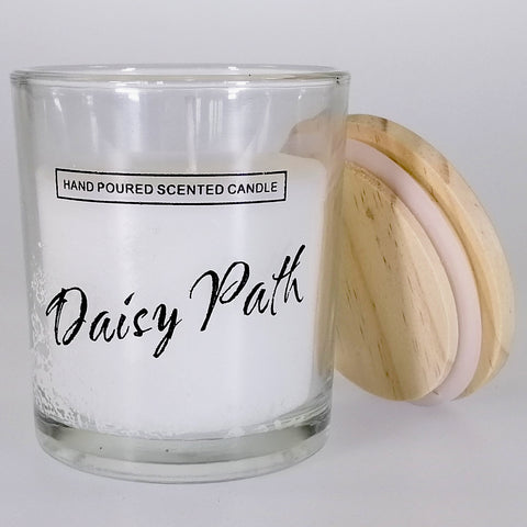 Small Glass Candle - Daisy Path