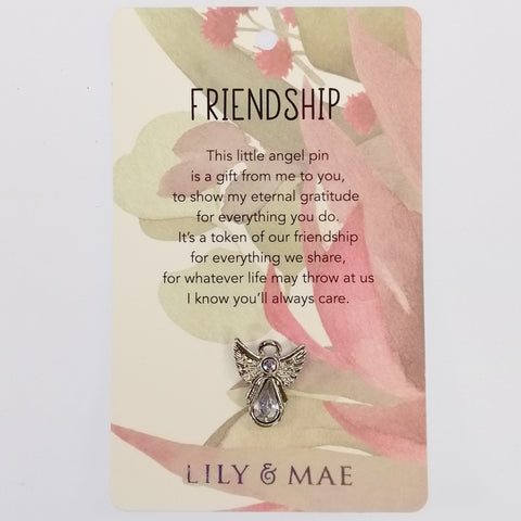 Lily & Mae - Guardian Angel Pin - Friendship