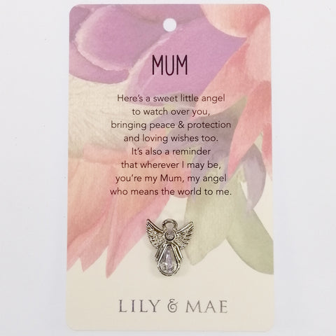 Lily & Mae - Guardian Angel Pin - Mum