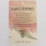 Lily & Mae - Guardian Angel Pin - Always Remember