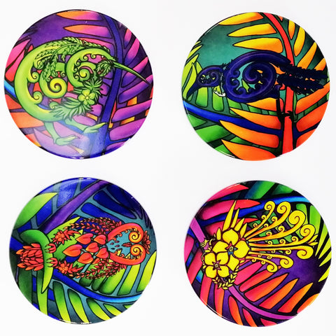 Bright Kiwiana Coaster Set of 4