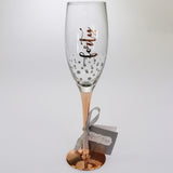 40th Birthday Rose Gold Stem Champagne Glass