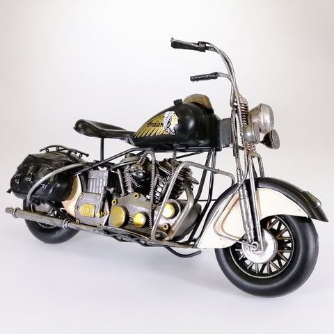 Vintage Indian Motorcycle Sculpture