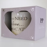 Fine China Mug - Love and a Cat