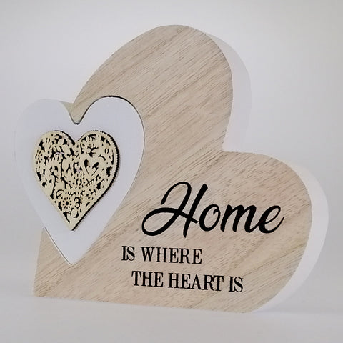 'Home' Heart Plaque - Small - 2 Piece