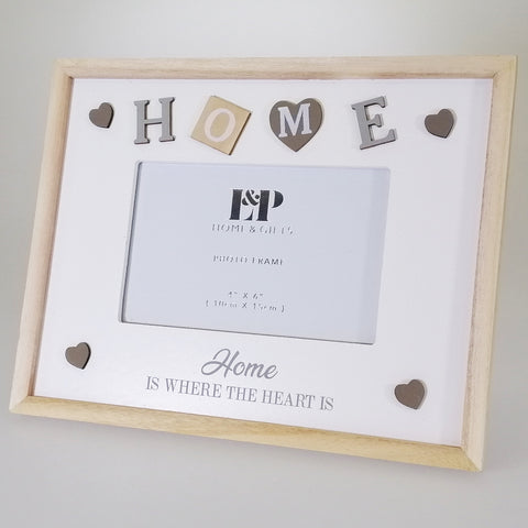 "Sentiment ""Home"" Picture Frame - 15cm x 10cm"