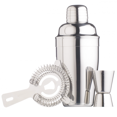 Barcraft - Stainless Steel Cocktail Kit - 3 pieces