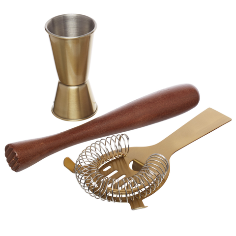 Barcraft Cocktail Tools - 3 Piece Set