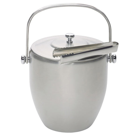 Handled Ice Bucket - With Lid & Tongs