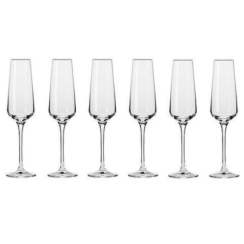 Krosno - Avant-Garde Champagne Flute - 180ml - Set of 6