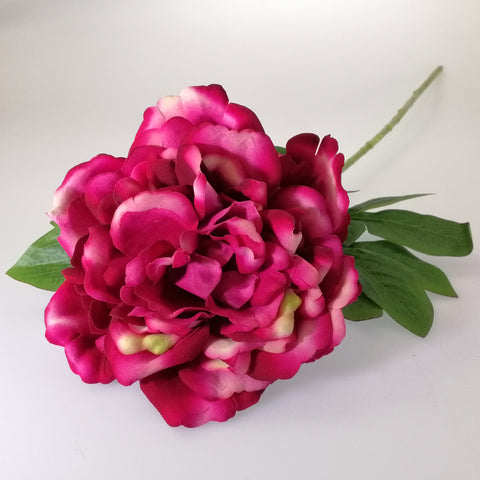 Artificial Flowers - Peony Stem - Shades of Burgundy