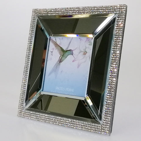 "Square Mirror Diamante-look Photo Frame - 3"" x 3"""
