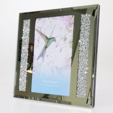 "Mirror Diamante-look Photo Frame - 6"" x 4"""