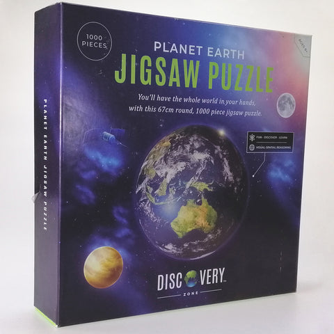 Jigsaw Puzzle - Round Planet Earth