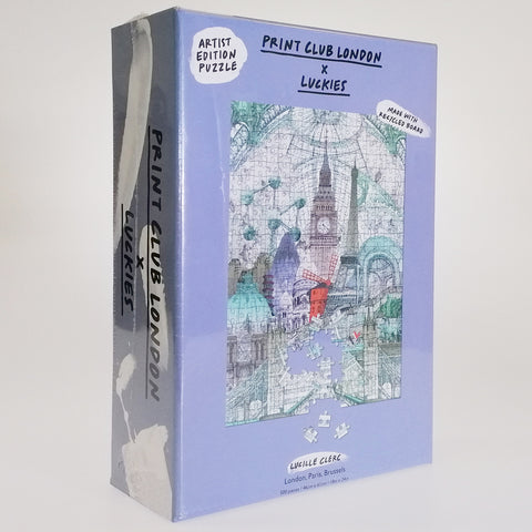 """London, Paris, Brussels"" 500 Piece Jigsaw"