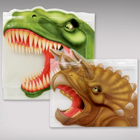 Reusable Ziplock Bags - Dinosaur - Set of 8