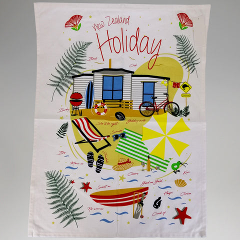 Tea Towel - 'New Zealand Holiday'