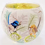 Glass Illusions 10cm Tea Light Shade - Blue Wren