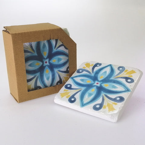 Coasters - Fleur Resin - Set of 4