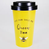 """Queen Bee"" Bamboo Travel Mug"