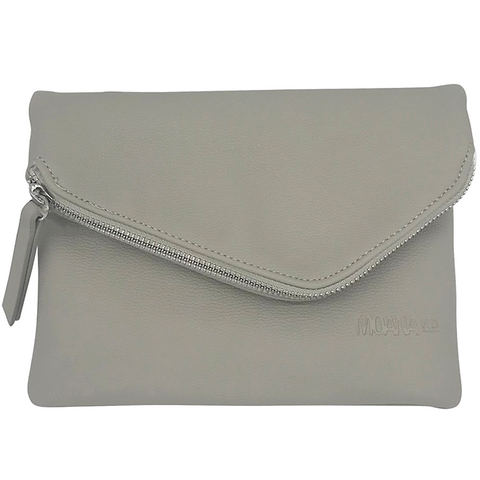 """Grey Lynn"" Clutch Bag - Grey"