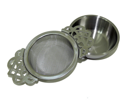 Tea Strainer - Vintage - With Bowl