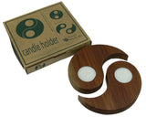 Romeyn Woodcrafts - 2 in 1 Candle Holder - Yin Yang