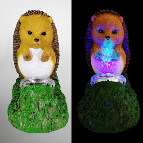 'Nails the Zombie Hedgehog' - Solar powered Garden Light