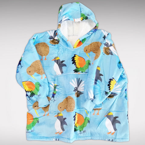 Blue Native Bird Mega Hoodie - Childs size