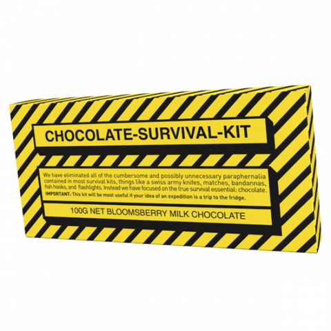 Bloomsberry & Co 'Chocolate Survival Kit' Milk Chocolate Bar