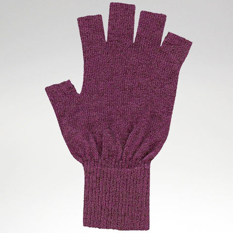 Fingerless Gloves - Fuchsia - Possum Merino - Large