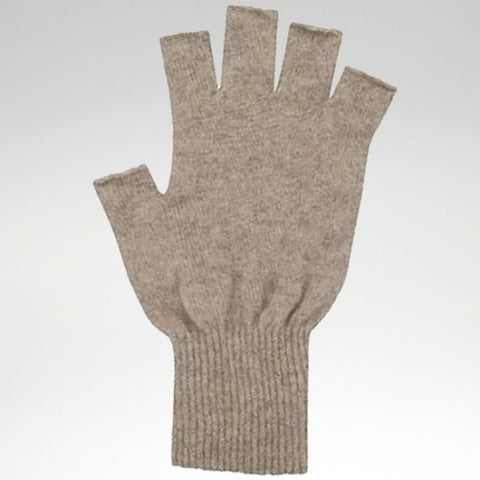 Fingerless Gloves - Natural - Possum Merino - Large