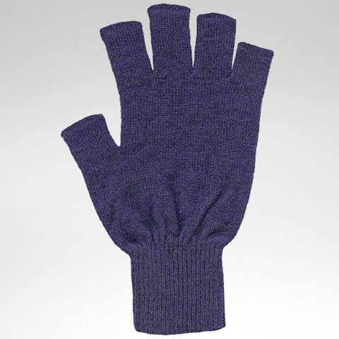 Fingerless Gloves - Violet - Possum Merino - Medium