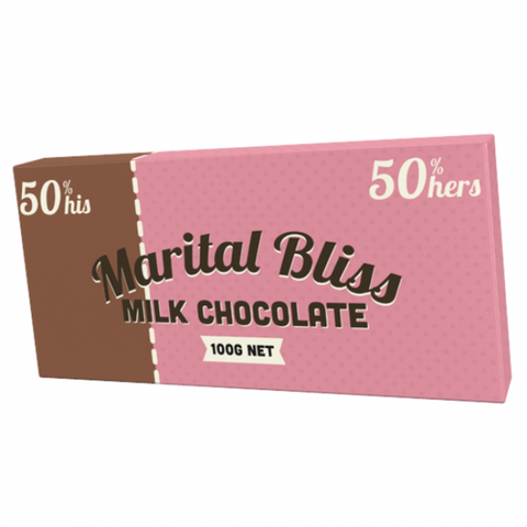 Bloomsberry & Co 'Marital Bliss' Milk Chocolate Bar