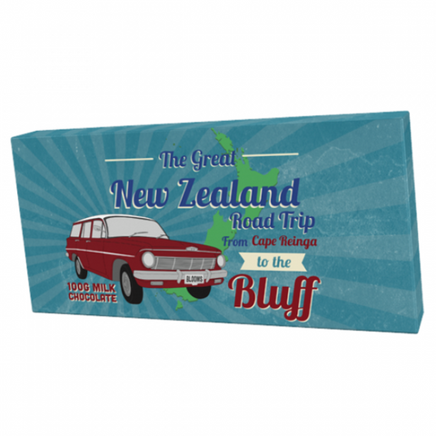 Bloomsberry & Co 'New Zealand Road' Trip Milk Chocolate Bar
