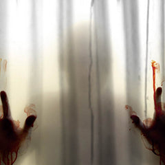 Bloody Horror Shadow Printed Shower Curtain